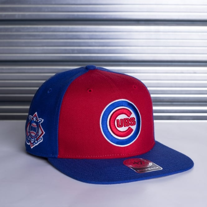 '47 MLB Chicago Cubs Sure Shot Accent Captain Snapback Cap