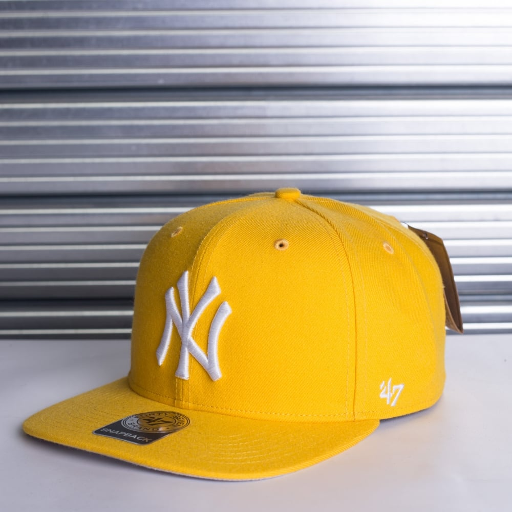 cf8483c6 47 MLB New York Yankees Sure Shot Yellow Adjustable Snapback - Teams ...