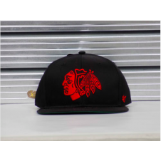 NHL Chicago Blackhawks Bold Logo Adjustable Strapback Cap