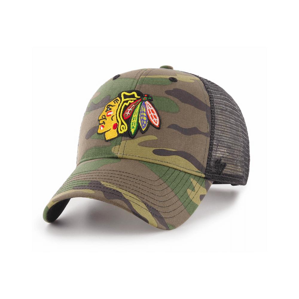 173ae353d09 47 NHL Chicago Blackhawks Camo Branson Trucker Cap - Headwear from ...