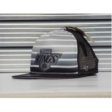 NHL Los Angeles Kings Mesh Dome Black & Grey Snapback