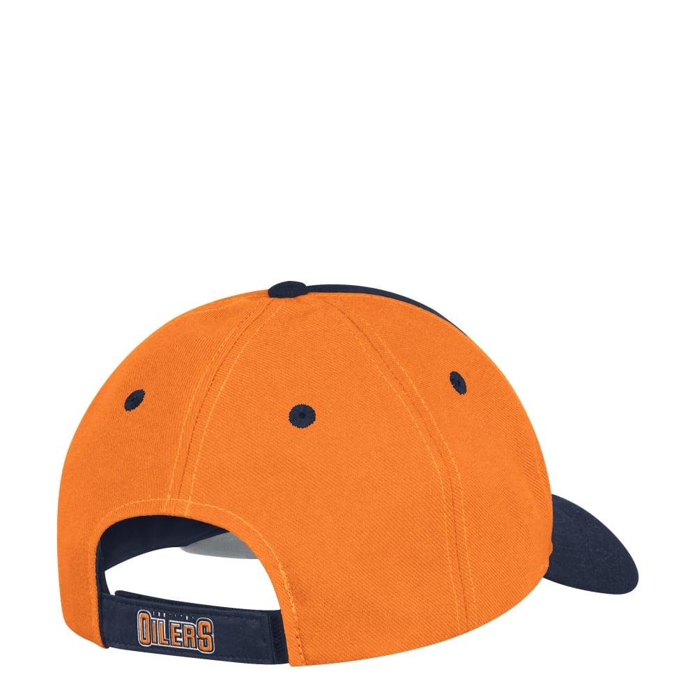 lowest price 5a4e3 71a8f NHL Edmonton Oilers Structured Adjustable Cap