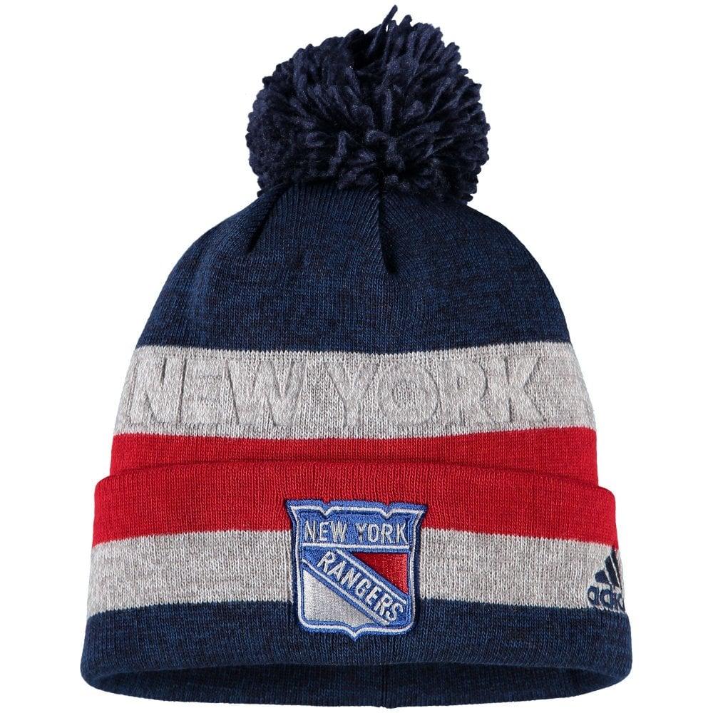 super popular 63e77 510b8 NHL New York Rangers Juliet Cuffed Pom Knit