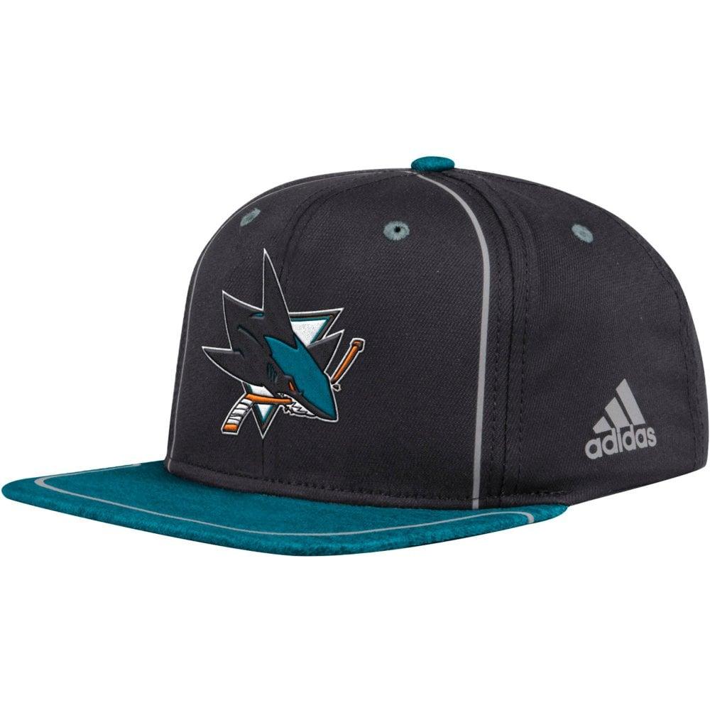 Adidas NHL San Jose Sharks Bravo Adjustable Snapback - Teams from ... 0c5f521dd443