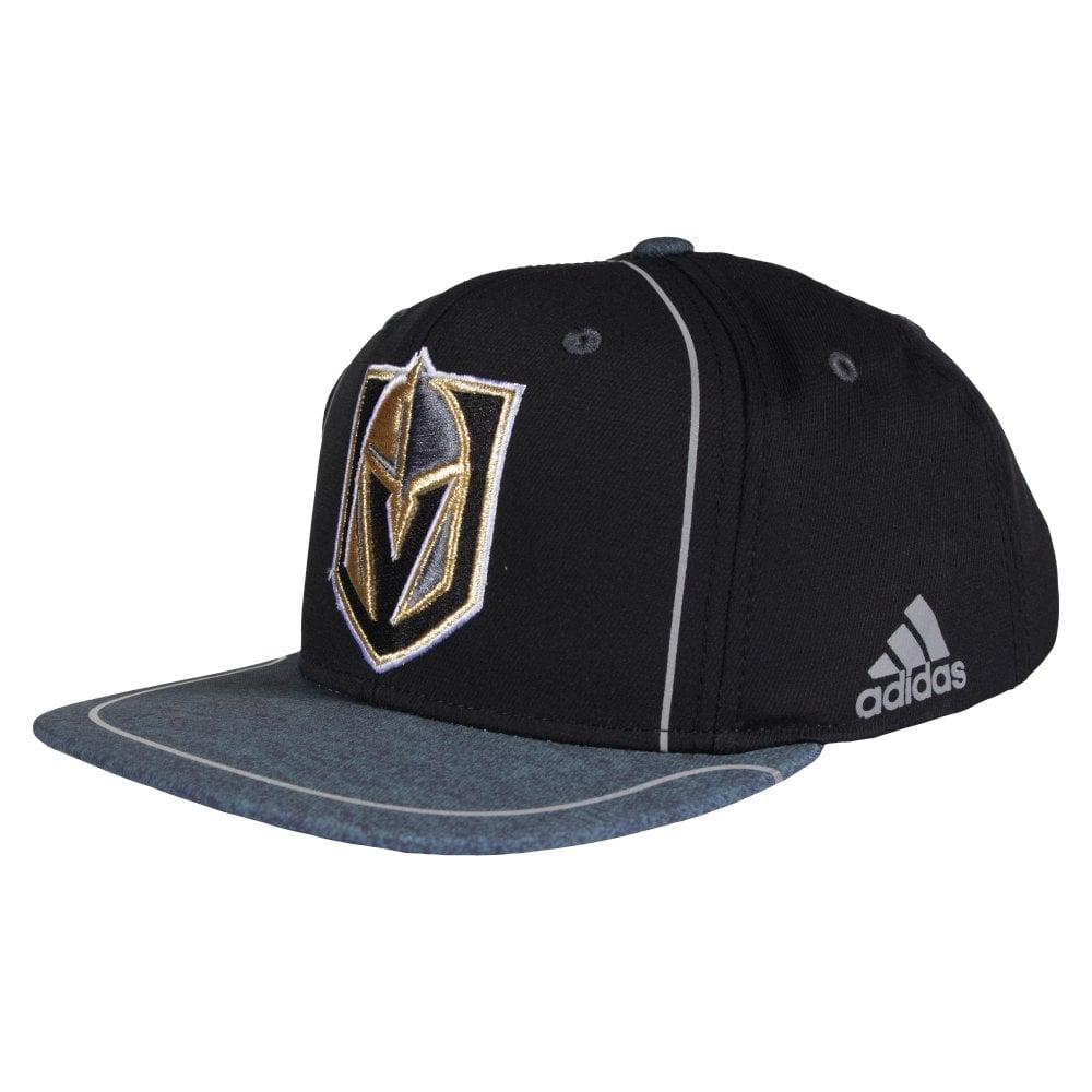 Adidas NHL Vegas Golden Knights Bravo Adjustable Snapback - Headwear ... 4edfe9789