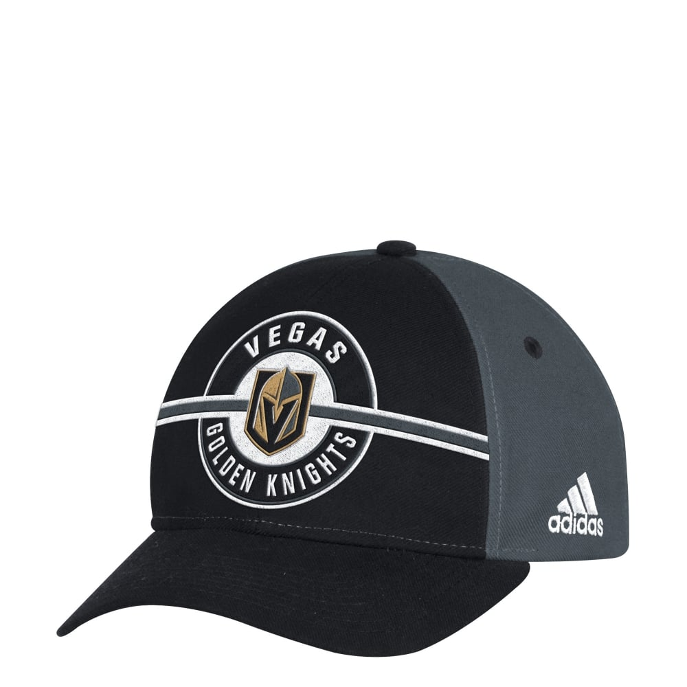 Adidas NHL Vegas Golden Knights Structured Adjustable Cap - Headwear ... 03d81a3f457