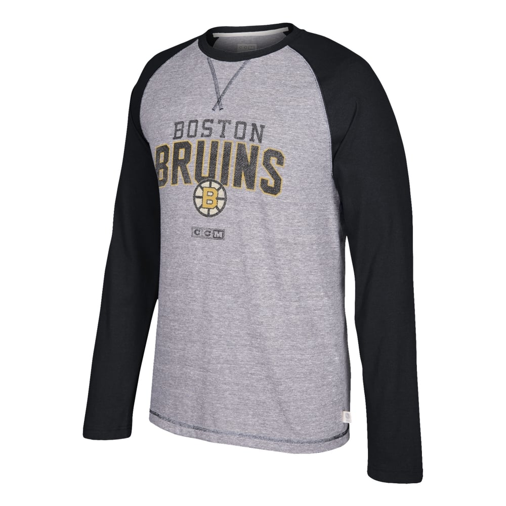 91cdfdc9f CCM Boston Bruins Appliqué Long Sleeve Crew - Teams from USA Sports UK