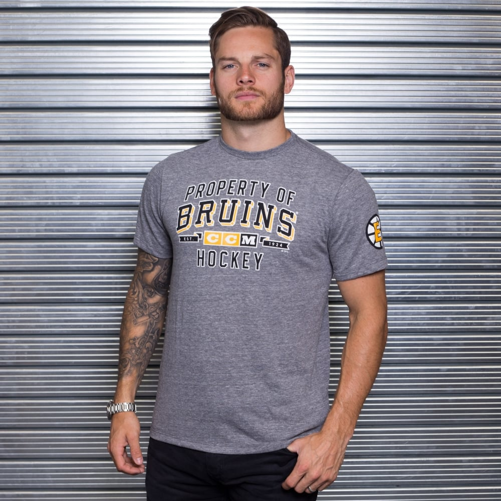 5ecf64cfe CCM NHL Boston Bruins Prop Block T-Shirt - Teams from USA Sports UK