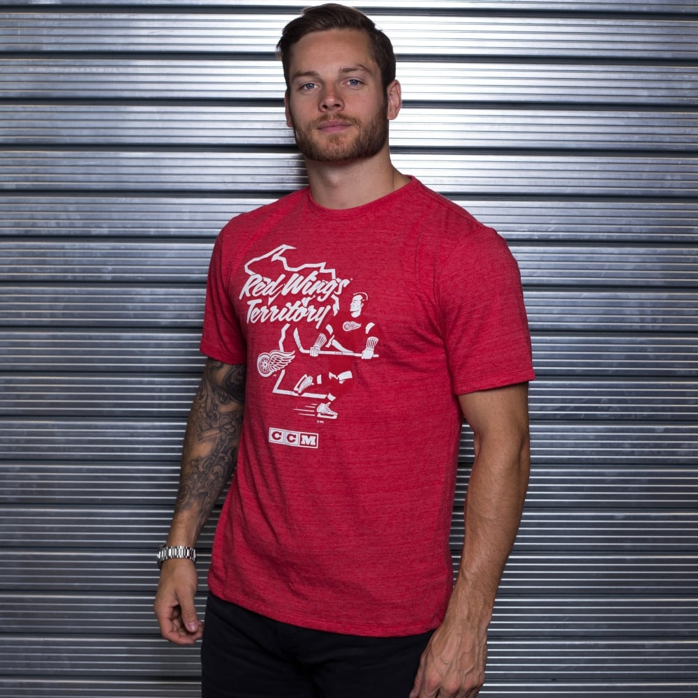 Ccm Nhl Detroit Red Wings Territorial T Shirt Teams From Usa Sports Uk
