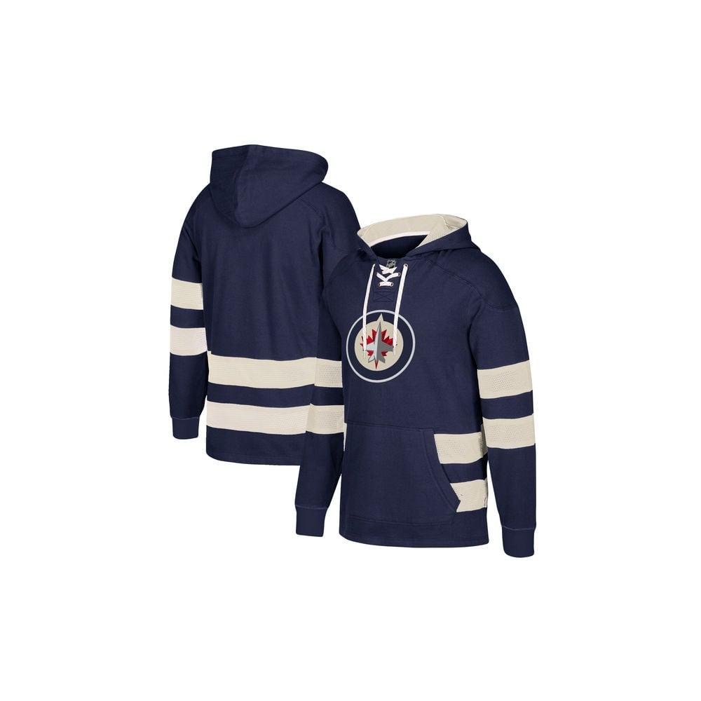 new product 97438 331d9 CCM NHL Winnipeg Jets Pullover Jersey Hood