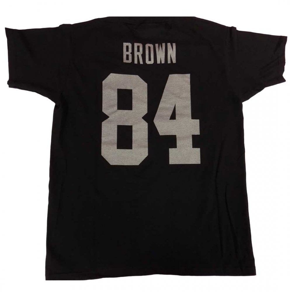 watch 31e7d 4d044 Fanatics NFL Oakland Raiders Antonio Brown Player Name & Number T-Shirt