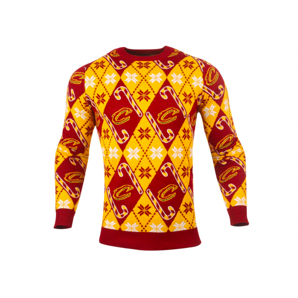 d4b81b8fc Forever Collectibles NBA Cleveland Cavaliers Candy Cane Ugly Sweater ...