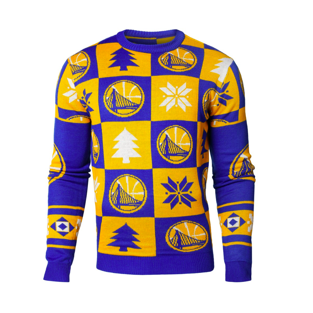 766d12c0 Forever Collectibles NBA Golden State Warriors Patches Ugly Sweater ...