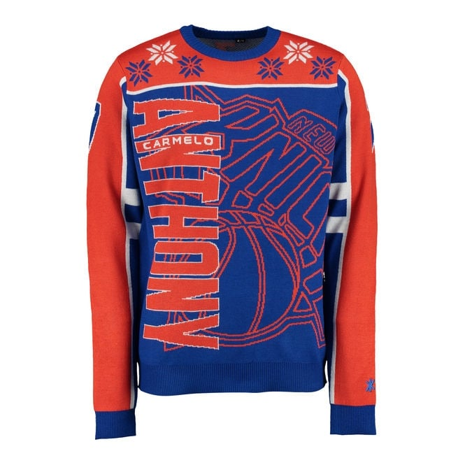 Forever Collectibles NBA New York Knicks Carmelo Anthony Ugly Sweater