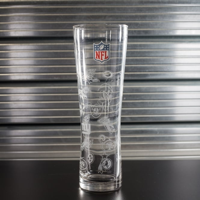 Forever Collectibles NFL All Logo Slim Pint Glass