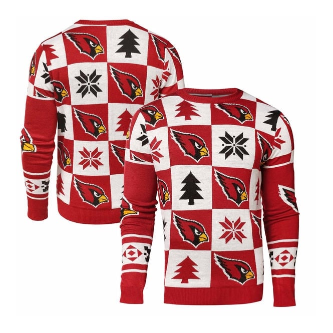 Forever Collectibles NFL Arizona Cardinals Patches Ugly Sweater