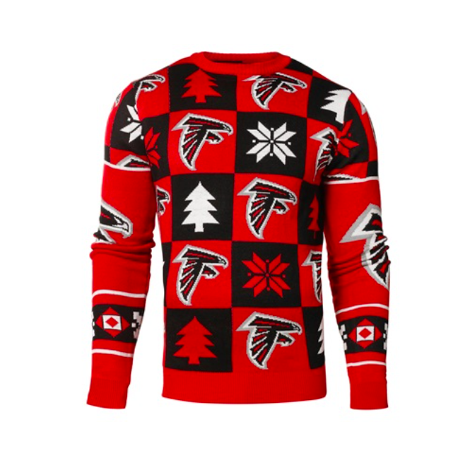 Forever Collectibles NFL Atlanta Falcons Patches Ugly Sweater