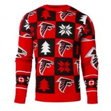 NFL Atlanta Falcons Patches Ugly Sweater