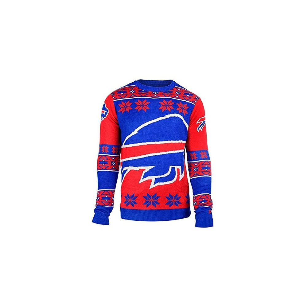 Forever Collectibles Nfl Buffalo Bills Big Logo Ugly Sweater Teams
