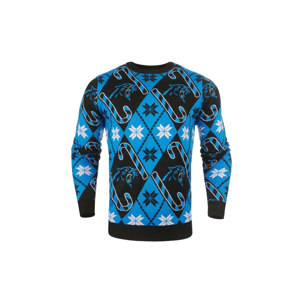 low priced 7a0c1 e3169 NFL Carolina Panthers Candy Cane Ugly Sweater