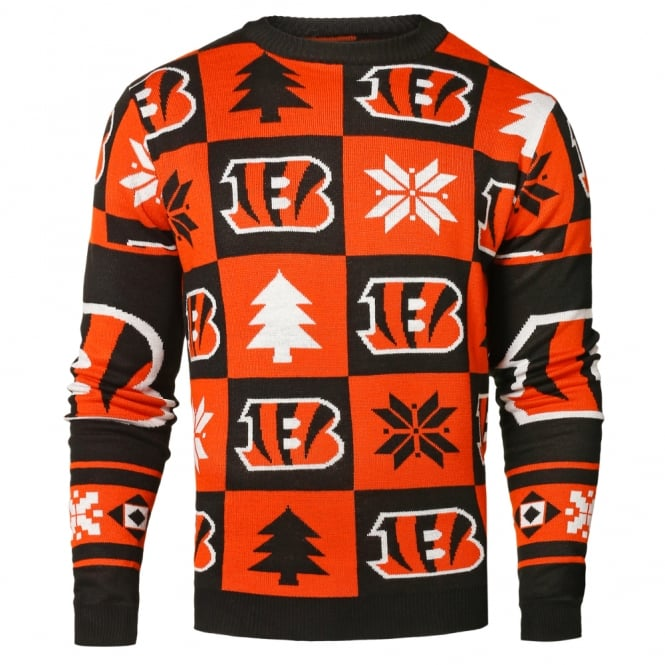 Forever Collectibles NFL Cincinnati Bengals Patches Ugly Sweater