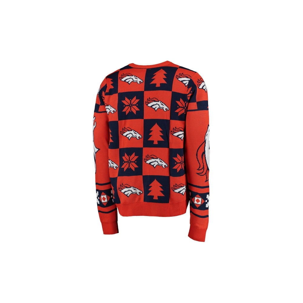 new products bc030 f6c7b NFL Denver Broncos Patches Ugly Sweater