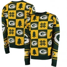 NFL Green Bay Packers Patches Ugly Sweater