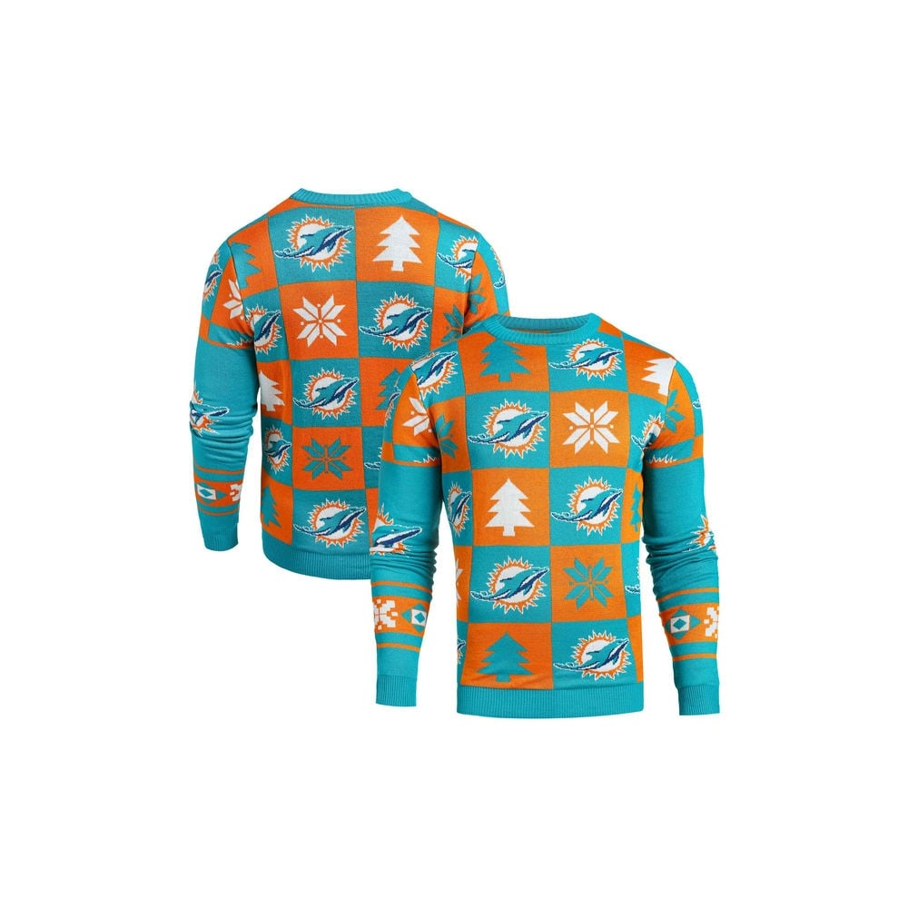 the latest 0c329 aefcd NFL Miami Dolphins Patches Ugly Sweater