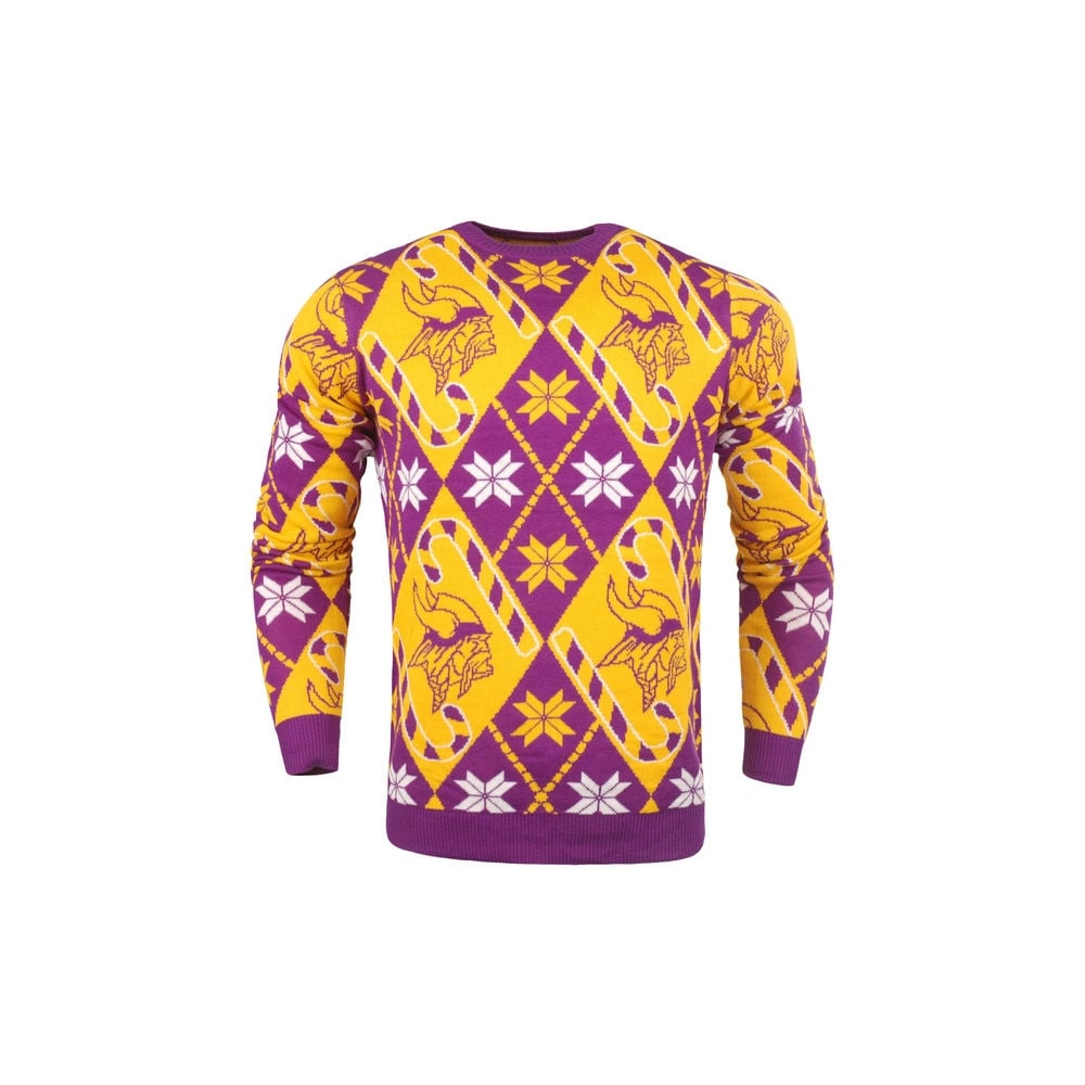 cheap for discount 8a9c1 f1b2f NFL Minnesota Vikings Candy Cane Ugly Sweater