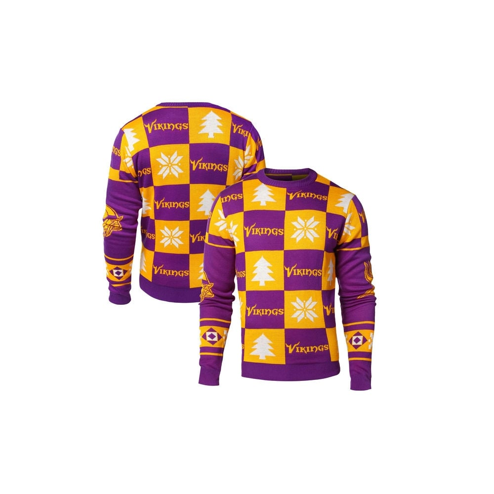 best sneakers 4c036 8cf57 NFL Minnesota Vikings Patches Ugly Sweater