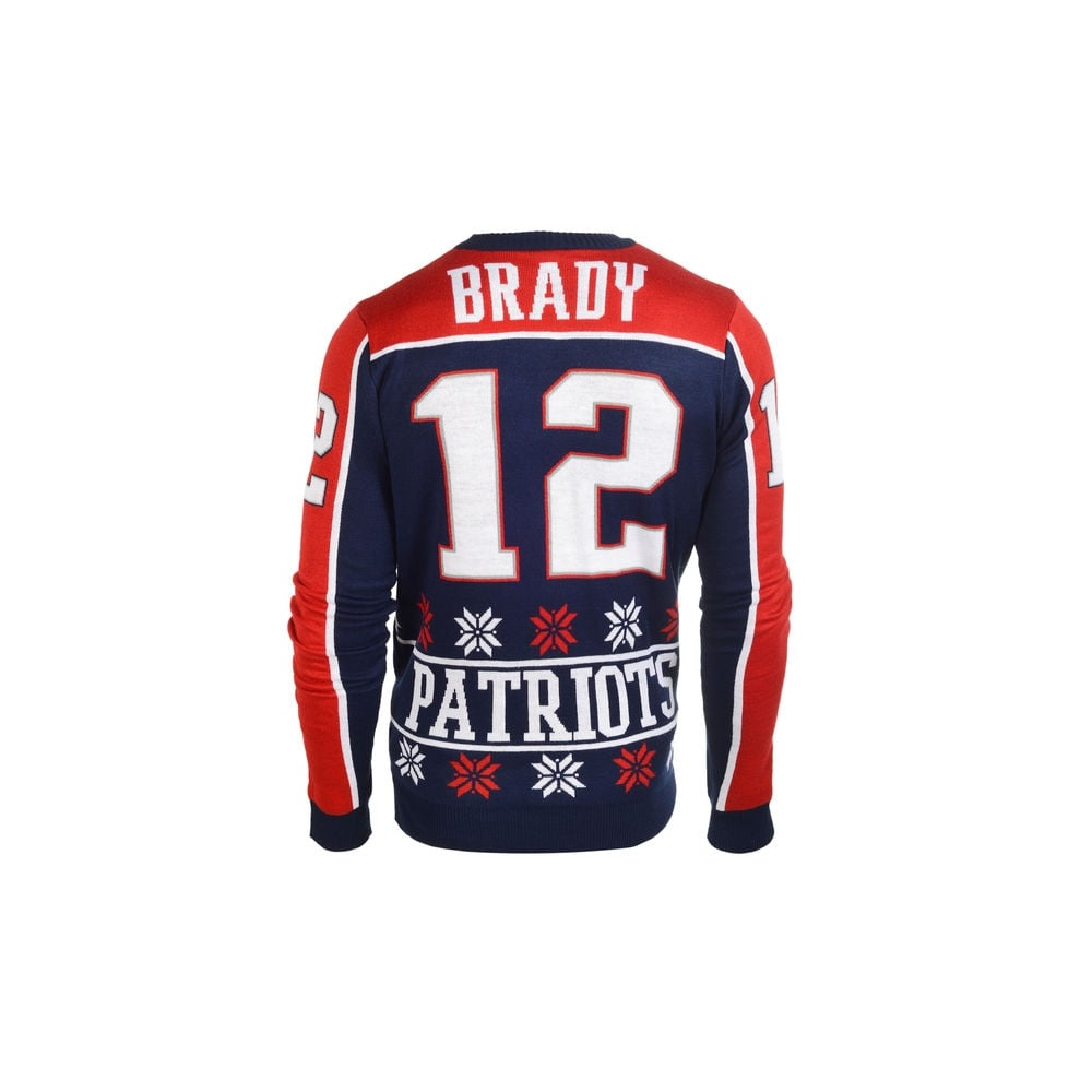 c61d075a69b Forever Collectibles NFL New England Patriots Tom Brady Ugly Sweater ...