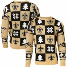 NFL New Orleans Saints Patches Ugly Sweater