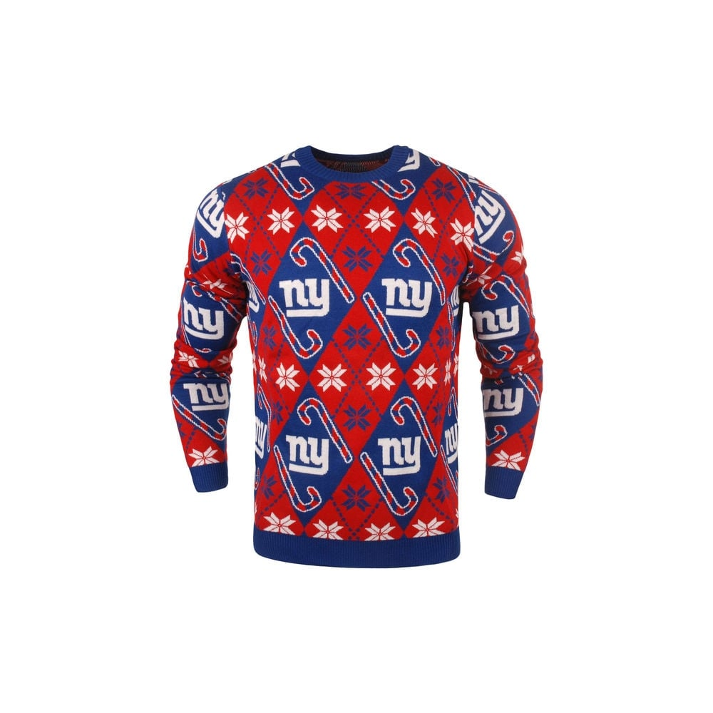 sports shoes b306e bedfb NFL New York Giants Candy Cane Ugly Sweater
