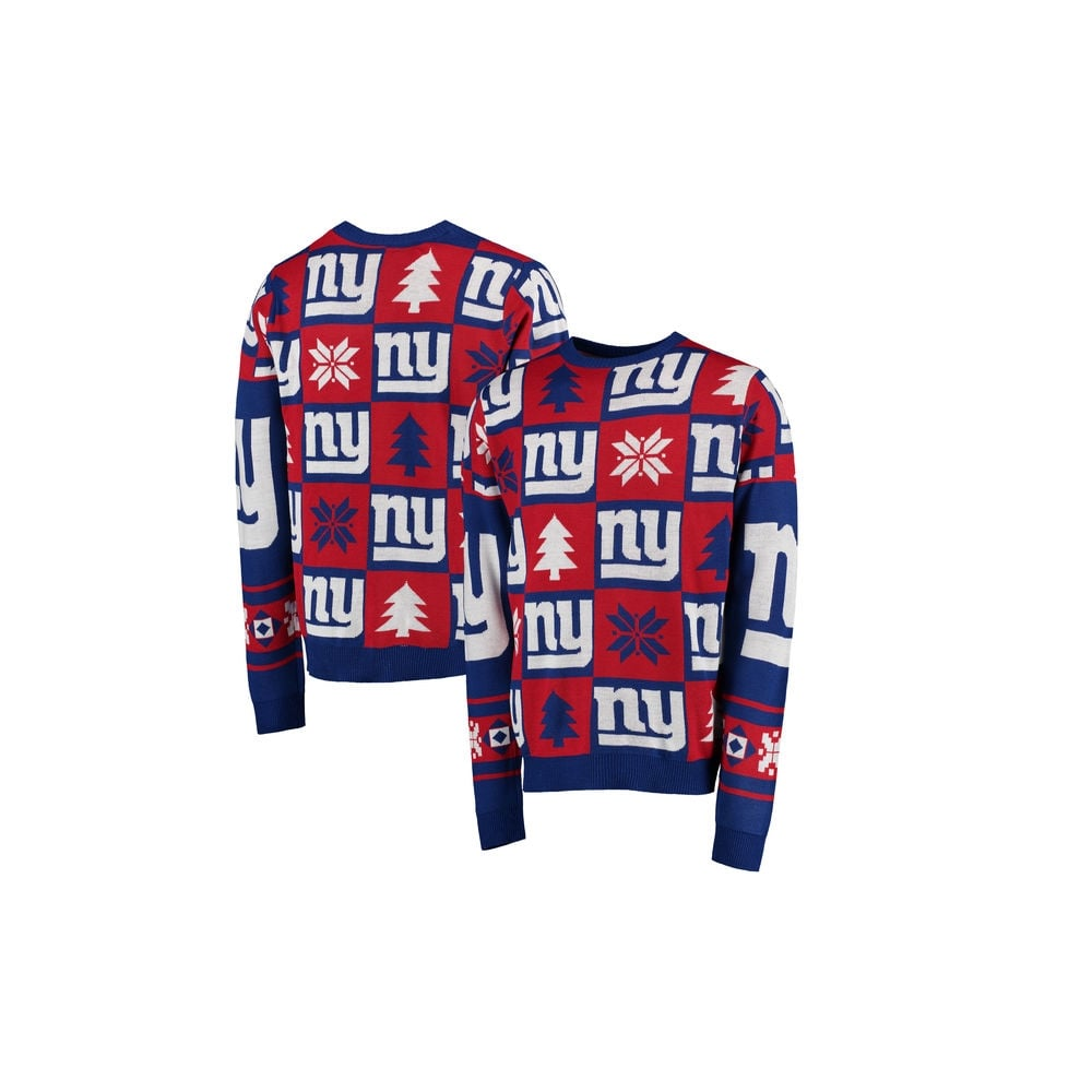 brand new f60bd 76731 NFL New York Giants Patches Ugly Sweater