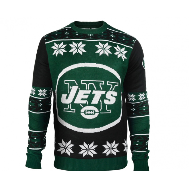 Forever Collectibles NFL New York Jets Big Logo Ugly Sweater