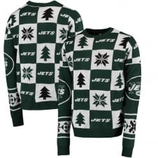 NFL New York Jets Patches Ugly Sweater