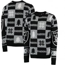 NFL Oakland Raiders Patches Ugly Sweater