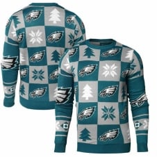 NFL Philadelphia Eagles Patches Ugly Sweater