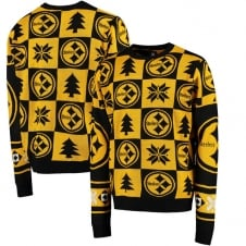 NFL Pittsburgh Steelers Patches Ugly Sweater