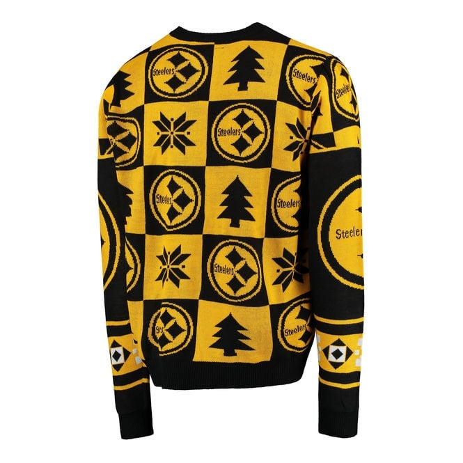 pretty nice e2bcf 33d5c NFL Pittsburgh Steelers Patches Ugly Sweater