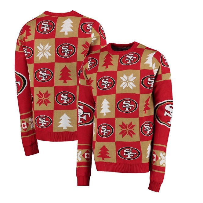 Forever Collectibles NFL San Francisco 49ers Patches Ugly Sweater