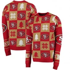 NFL San Francisco 49ers Patches Ugly Sweater