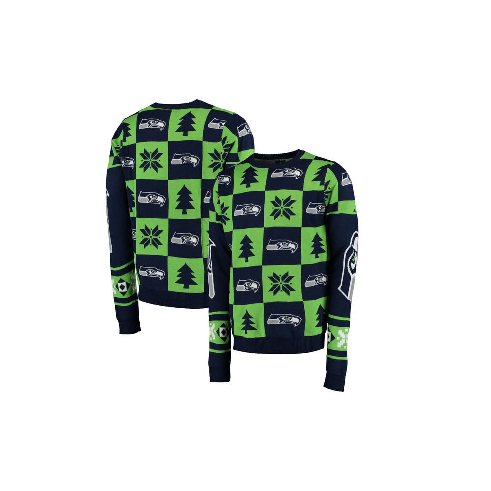 buy popular 0b71d c997c NFL Seattle Seahawks Patches Ugly Sweater