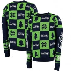 NFL Seattle Seahawks Patches Ugly Sweater