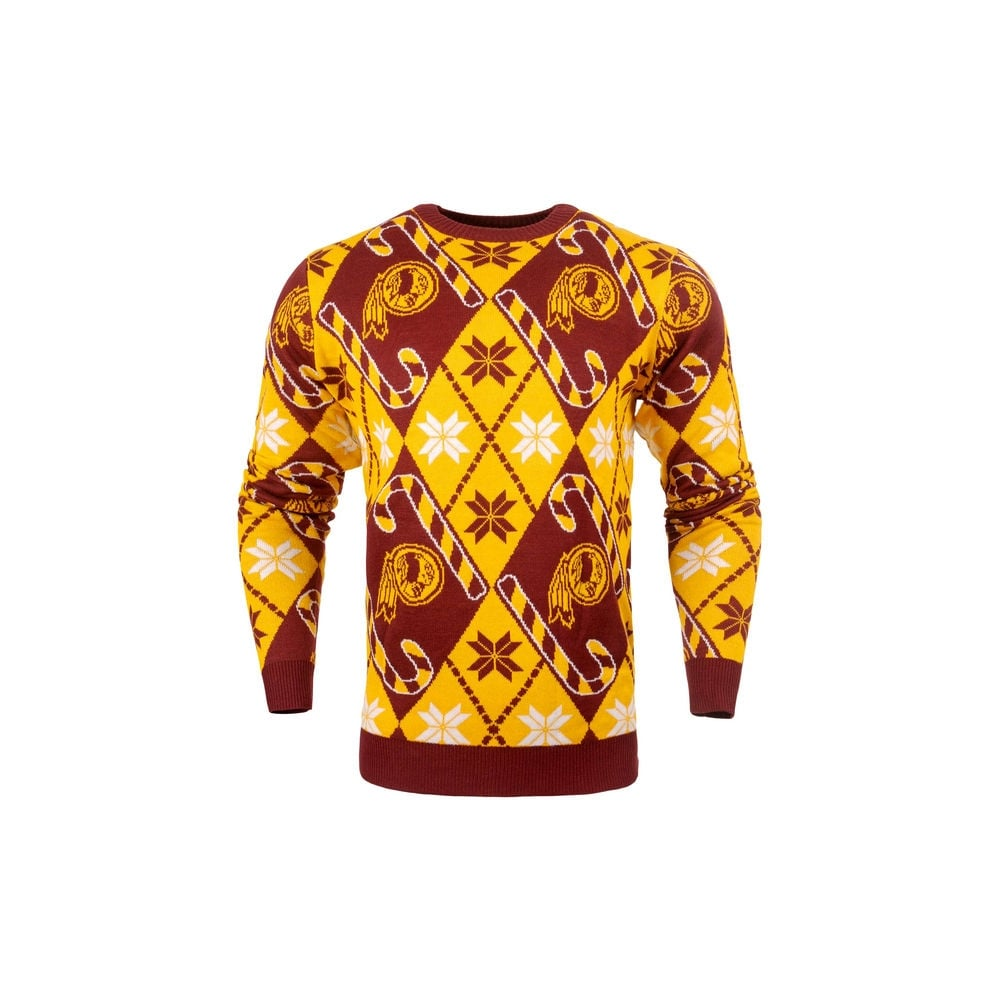 new products fb98e 305c2 NFL Washington Redskins Candy Cane Ugly Sweater