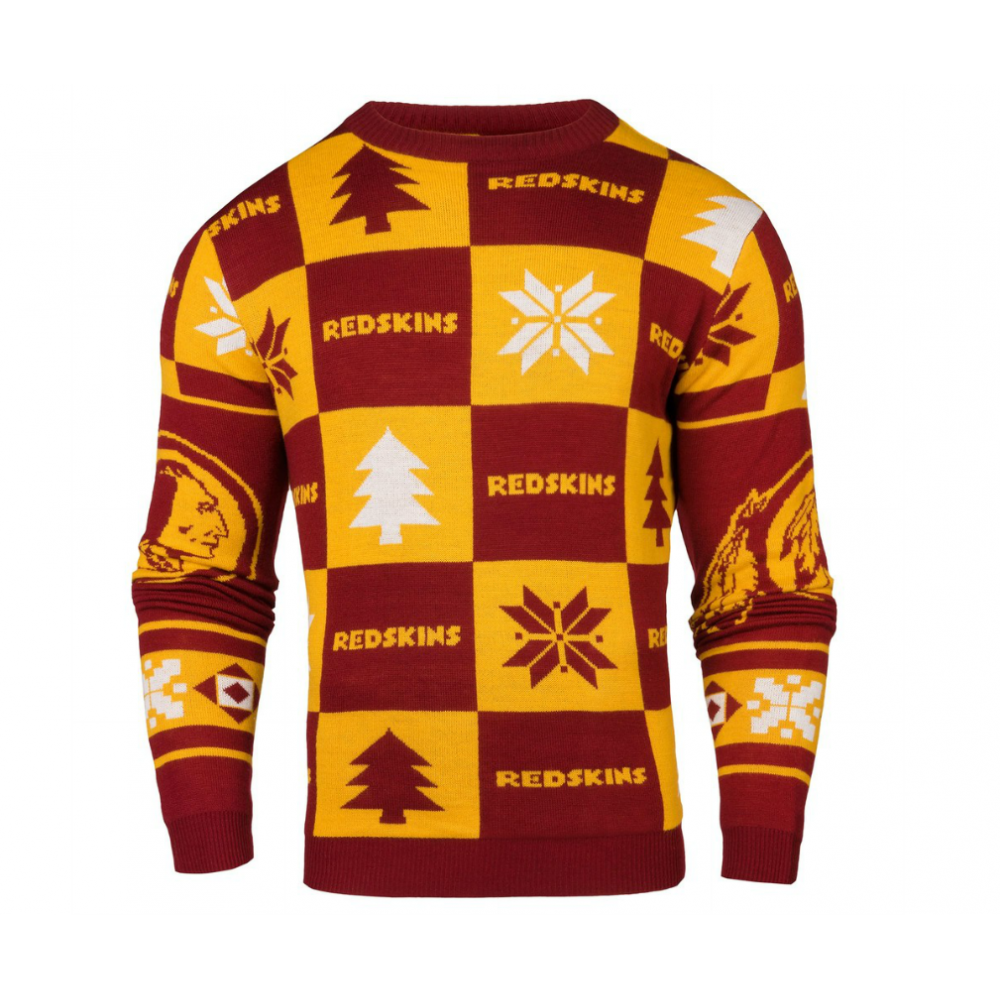new arrivals 80103 b143f NFL Washington Redskins Patches Ugly Sweater