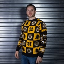 NHL Boston Bruins Patches Ugly Sweater