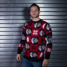 NHL Chicago Blackhawks Patches Ugly Sweater