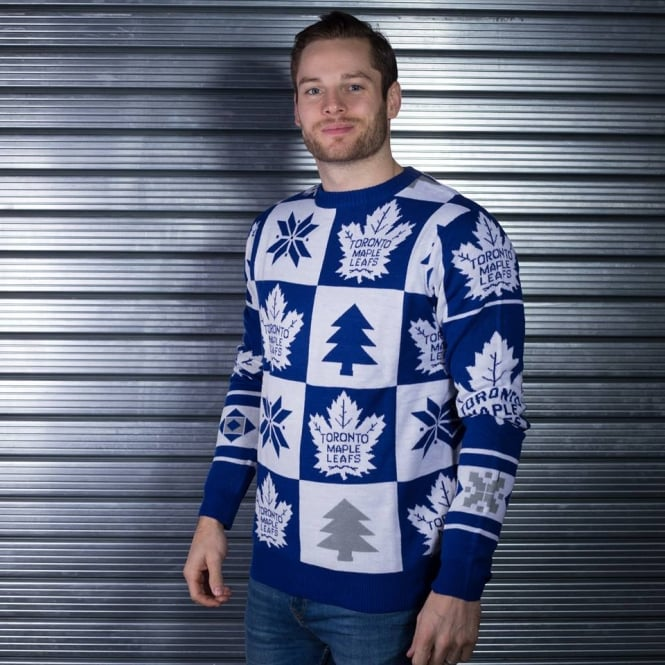 Forever Collectibles NHL Toronto Maple Leafs Patches Ugly Sweater
