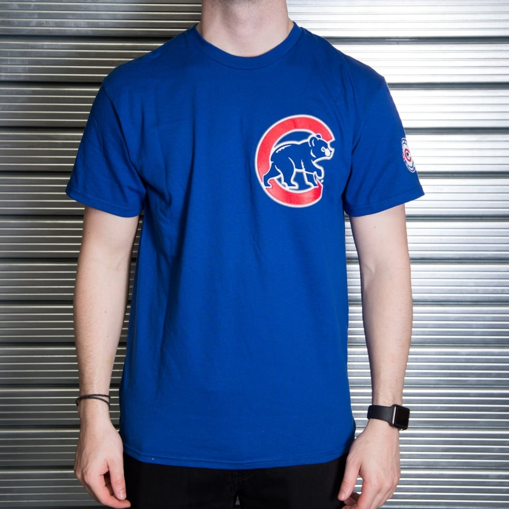 sale retailer e6f1d c0b1c MLB Chicago Cubs Kris Bryant Royal Official Name and Number T-Shirt